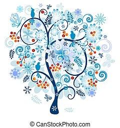 Árbol decorativo de invierno