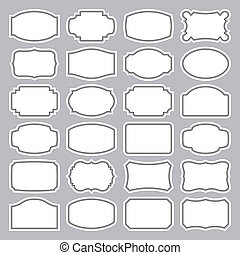 24 etiquetas en blanco (vector)