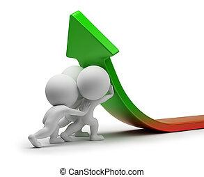 3 personas pequeñas - mejora de las estadísticas