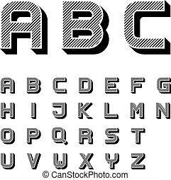3D letras de letras de letras de letras de letras de font color negro