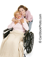 Abraza a la abuela
