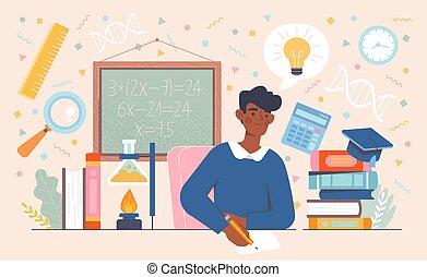 académico, proceso, educación