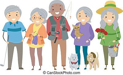 Actividades de ancianos