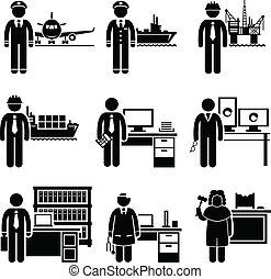 alto, profesional, trabajos, ingresos