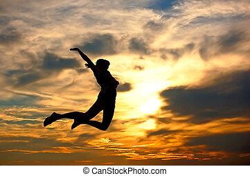 ¡Amo el mundo! Mujer mostrando su felicidad
