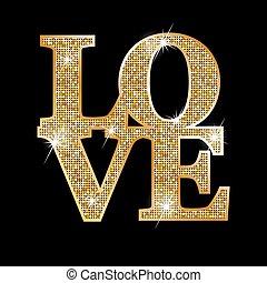 Amor, cartas de oro