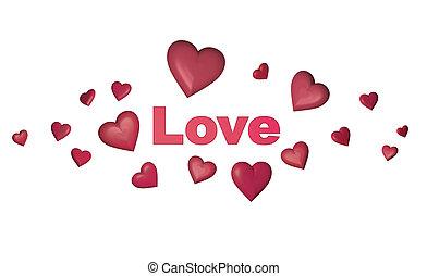 Amor y concepto de corazón