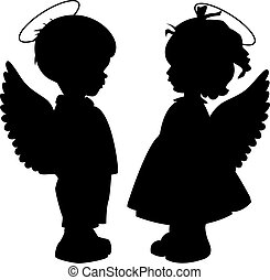 Angel Siluetas puestas