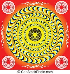 Anillos místicos (Ilusión de movimiento)