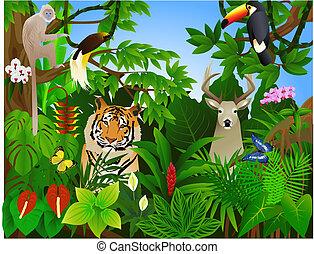 Animal en la jungla