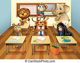 Animales en clase