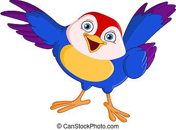 Apuntando pájaro