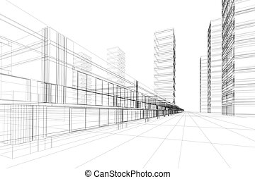 Arquitectura 3D abstracta