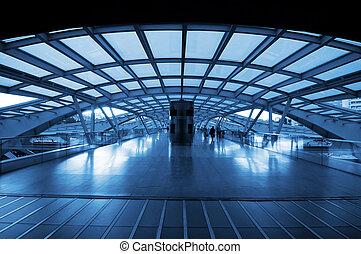 Arquitectura de la estación de tren moderna
