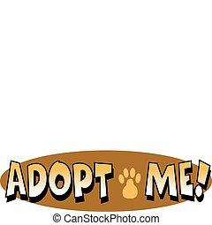 arte, clip, mascota, perro, señal, adopción