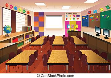 Aula vacía para la escuela primaria