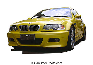 Auto deportivo de oro
