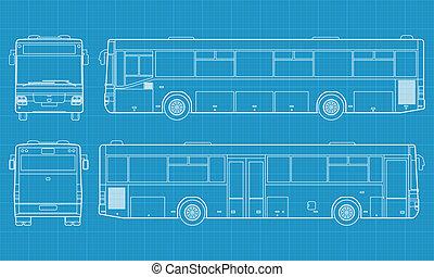 Autobús del vector