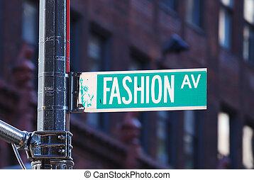 Avenida de moda de Nueva York