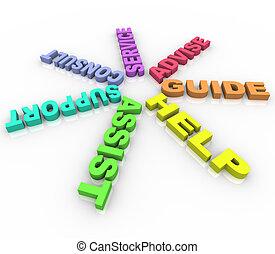 Ayuda - palabras de color en un círculo