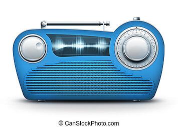 azul, radio