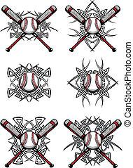 Béisbol gráfico tribal