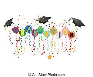 Balones de graduación para ilustración de celebración