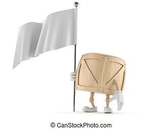 bandera, blanco, cajón, carácter