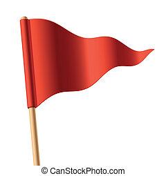 Bandera triangular roja