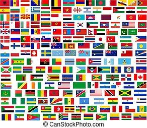 Banderas de todos los países del mundo