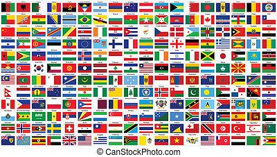 Banderas del mundo alfabético