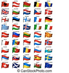 Banderas europeas listas