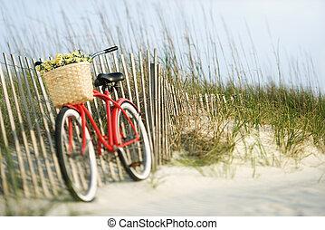 Bicicleta con flores.