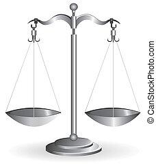 blanco, escala del balance, aislado