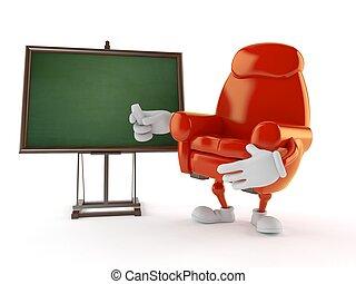 blanco, sillón, pizarra, carácter