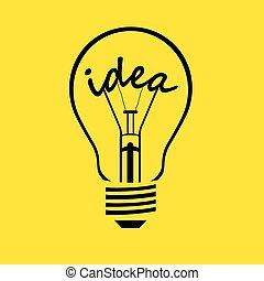 Bombilla - idea, vector