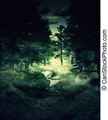 Bosque crepúsculo