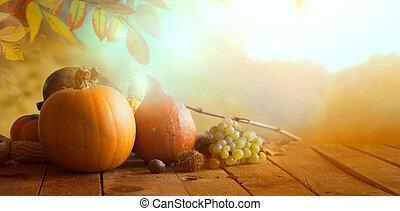 bosque de otoño, hojas