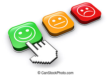 Botón de retroalimentación de calidad del cliente