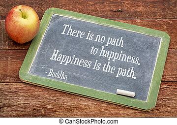 Buda cita la felicidad