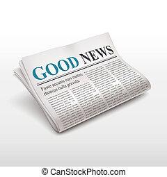Buenas noticias en el periódico