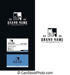 caballo, prima, diseño, gato, logotipo, perro, vector, lujo