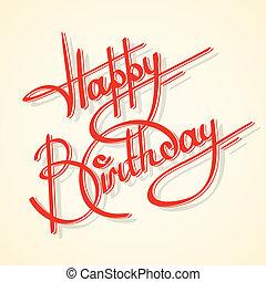 Caligrafía feliz cumpleaños