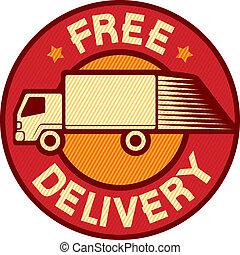Camión de entrega gratis