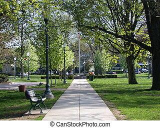 Camino del parque