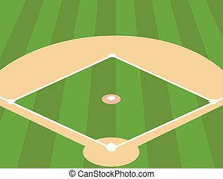 Campo de béisbol como fondo