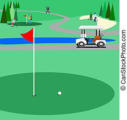 Campo de golf verde