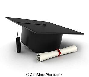 Capa de graduación y diploma