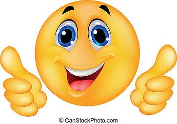 Cara de emoticono sonriente