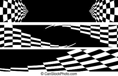 carreras, bandera